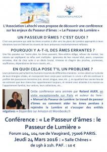 Affiche Forum 104 - Passeur d'âmes